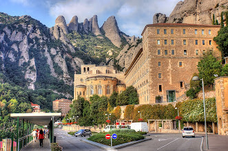 Photo: Montserrat just outside of Barcelona.  Dramatic peaks surround this peaceful place of pilgrimage.