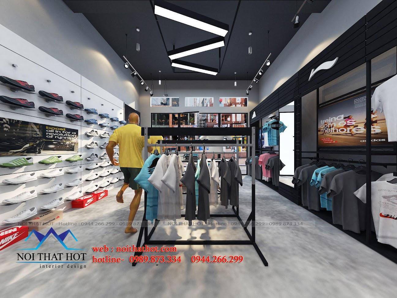 thiết kế shop thời trang adidas 6