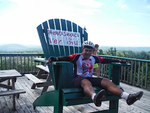 Photo: Day 53 August 10 Bennington To Brattleboro VT  Only time Dale seemed small!