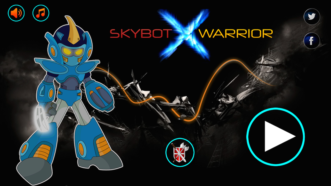 Robot Skybot X Warrior- screenshot