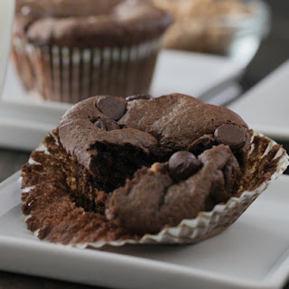 Double Chocolate Flourless Muffins