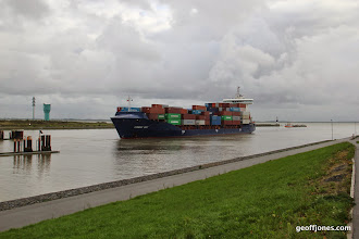 Photo: Conmar Bay Container boat going into Kiel canal
