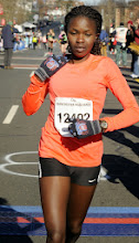 Photo: MANCHESTER 11/28/13  Alice Kamunya of Kenya and now of Schenectady, NY wins the women's category of the 2013 Manchester Road Race. (MRR Photo by John Long)