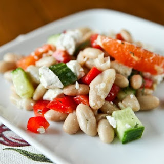 Orange and Cucumber Navy Bean Salad