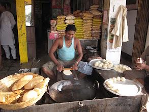 Photo: Making Puri (a type of bread) in Bhubaneswar India