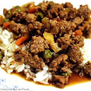 Asian Beef and Rice.