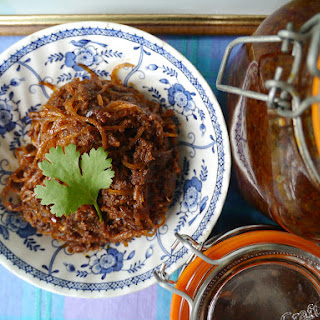 Jeow bong - Lao spicy chili relish with shredded pork skin