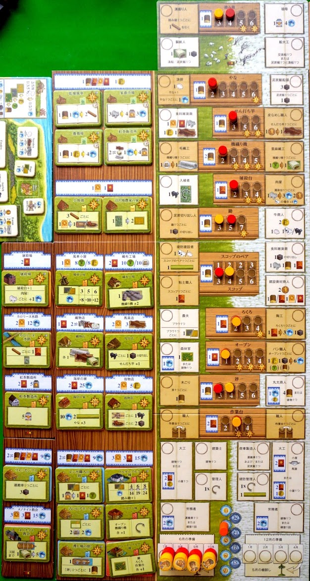 アルルの丘:拡張 紅茶と交易:初期セットアップ