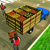 Offroad Fruit Transporter Truck: Driving Simulator