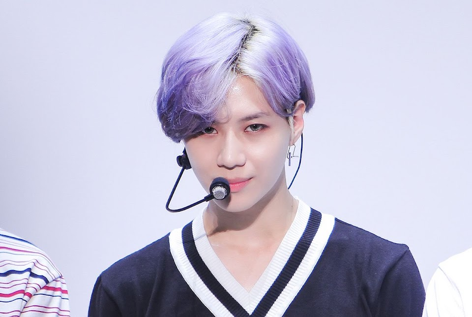 taemin purple hair