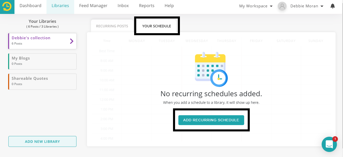 how to schedule posts on Facebook groups - add recurring schedule