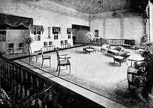 Photo: Sala de espera do antigo Teatro D. Pedro, atual Teatro Municipal Paulo Gracindo. Foto sem data