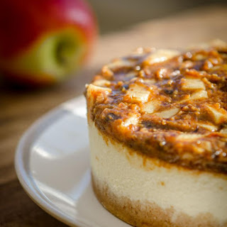 Apple Caramel Cheesecake (raw).