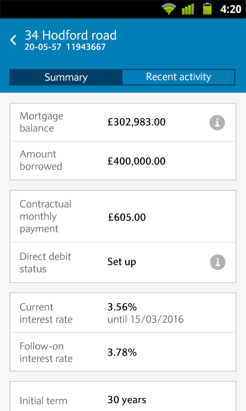 Barclays Mobile Banking - screenshot