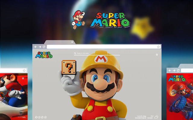 Super Mario Wallpaper New Tab Theme
