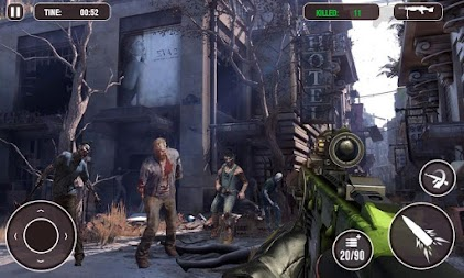 Death Zombie Street Killing 3D - zombie survival APK screenshot thumbnail 3