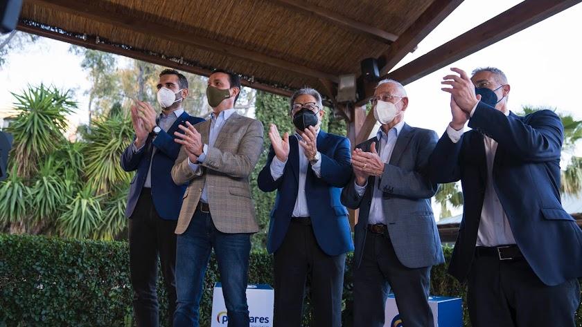 Acto del Partido Popular con alcaldes y concejales del Almanzora celebrado el miércoles.