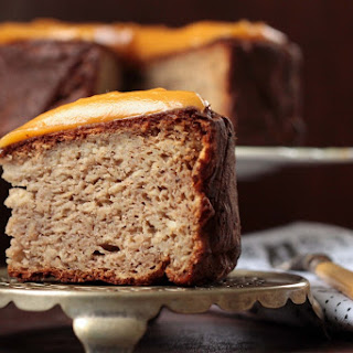 Parsnip, Maple and Nutmeg Cake with Sweet Potato and Ginger Frosting.