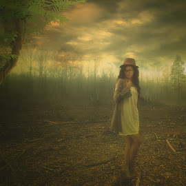 Dreaming Jane by Boyet Lizardo - Digital Art People ( infrared photography, composite, portrait )