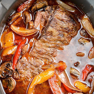 Slow Cooker Steak Fajitas.