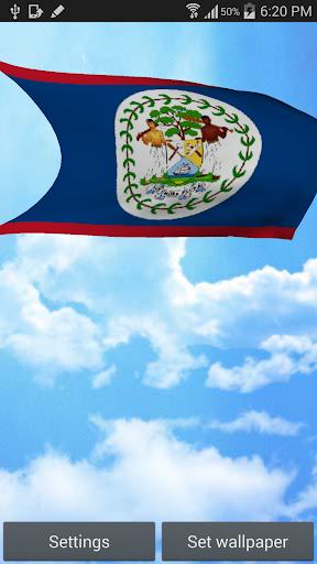 Belize Flag Live Wallpaper