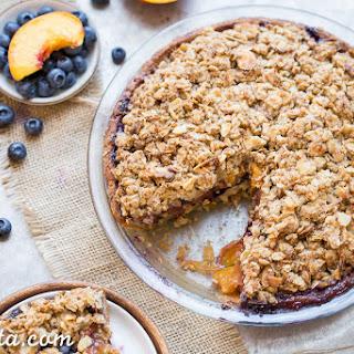 Blueberry Nectarine Pie (Gluten Free)