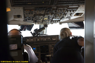 Photo: Pilot of Icelandir 757 charter and flight attendant preparing for totality of the 20 March 2015 total solar eclipse.