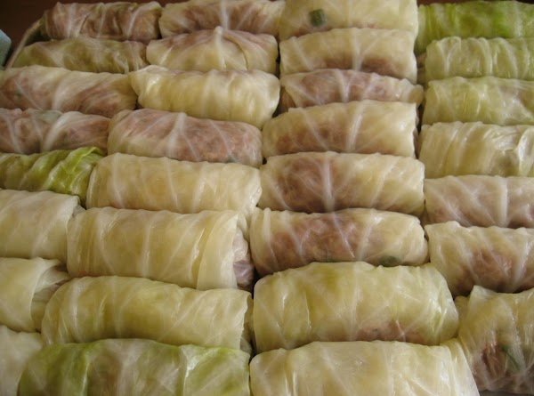FREEZING: At this point you can freeze your cabbage rolls by placing them spaced evenly...