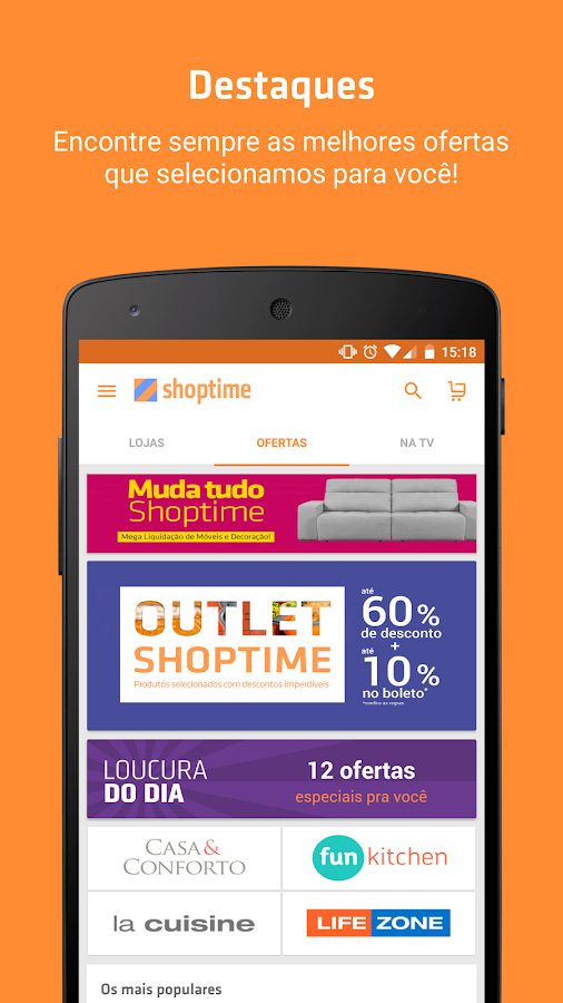 Screenshots of Shoptime - Loja virtual com ofertas da TV for iPhone