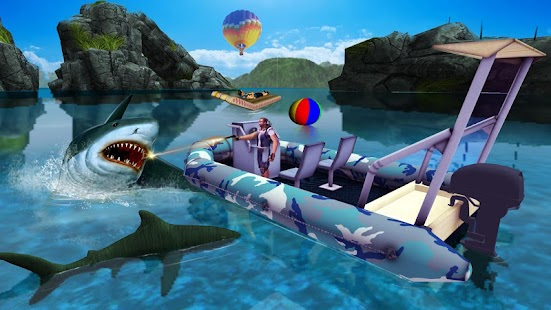 Shark Attack Game - Blue whale sim Screenshot