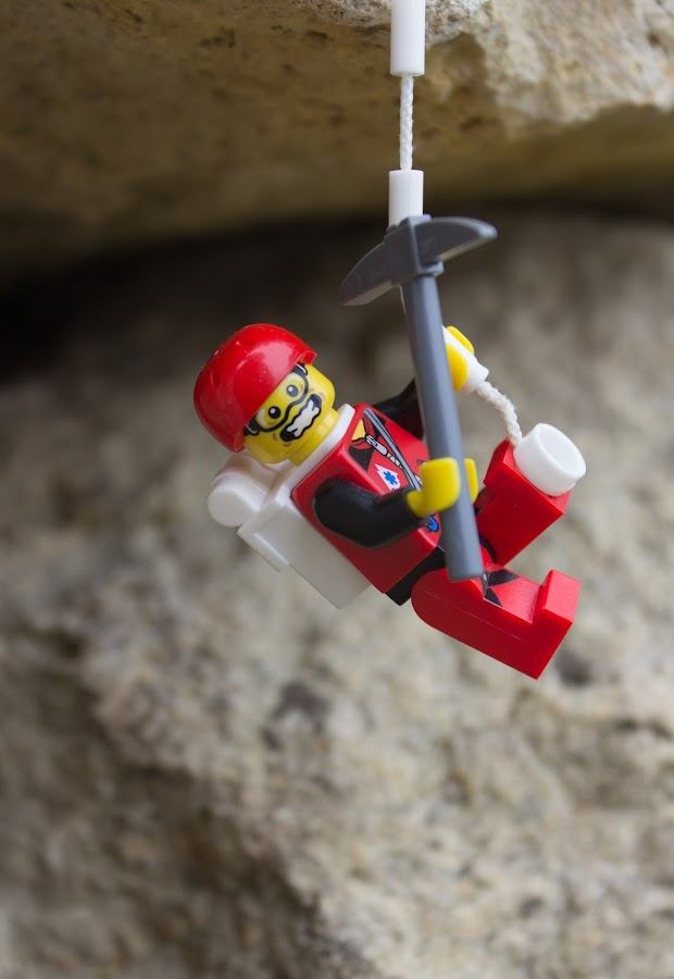 Hanging Out by Gerald Glaza - Artistic Objects Toys ( climbing, toys, rock, lego, rockclimbing )