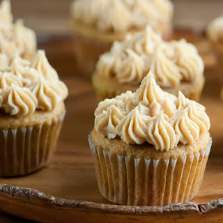 Banana Cupcakes with Peanut Butter Frosting.