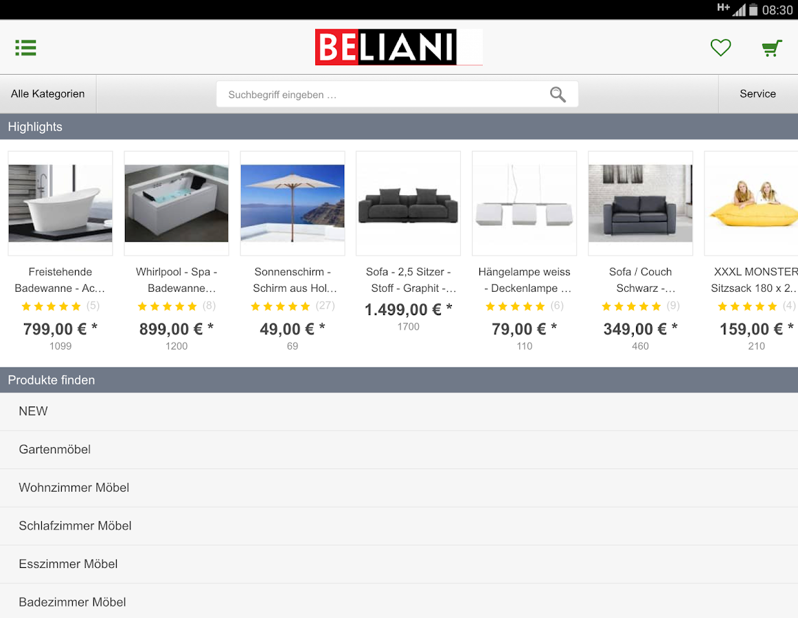 Beliani.de- screenshot