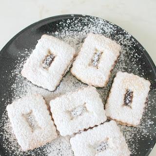 Strawberry Linzer cookies