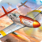 Fighter Jet Attack Air Combat: World War 2 Battle