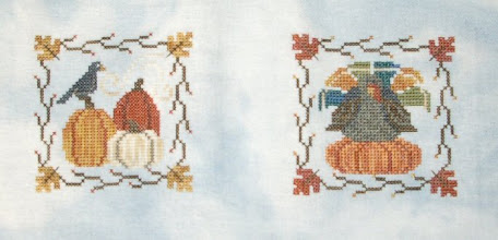 Photo: Completed 7 Jun 2007. This is Waxing Moon Designs (www.waxingmoondesigns.com) Autumn Minis (#101) stitched on a Silkweaver solo using Weeks Dye Works threads. It was a great weekend+ project. Image Info: