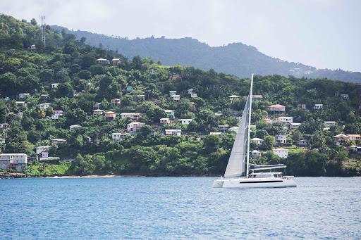 grenada-waterfront.jpg - The coastline along the western edge of Grenada.