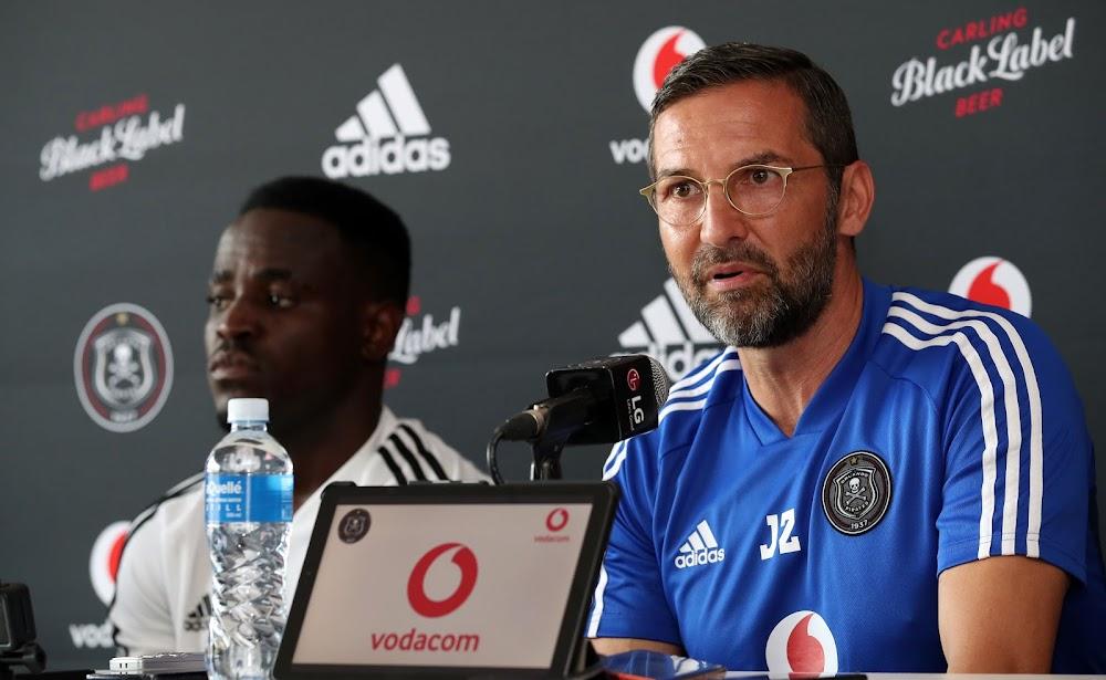 I don't know what Gabadinho Mhango drinks' says Pirates coach Zinnbauer