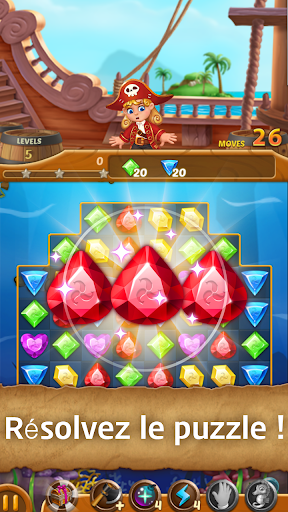 Télécharger Jewels Ocean : Une aventure de puzzle Match3 mod apk screenshots 1