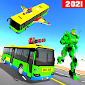 Flying Robot Bus Transform Battle 2021 icon