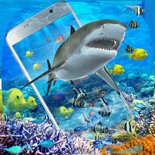 3D Ocean Shark Theme(shake&get effect)