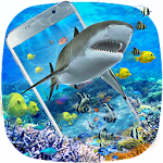 3D Ocean Shark Theme(shake&get effect) Icon
