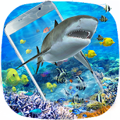 3D Ocean Shark Theme(shake&get effect)