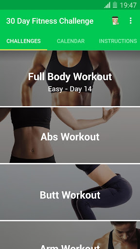 30 Day Fitness Challenge Workout - Lose Weight Screenshot