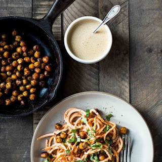 Sweet Potato Noodles with Fried Chickpeas Recipe
