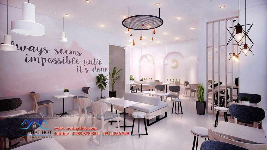 thiết kế quán trà sữa ấn tượng
