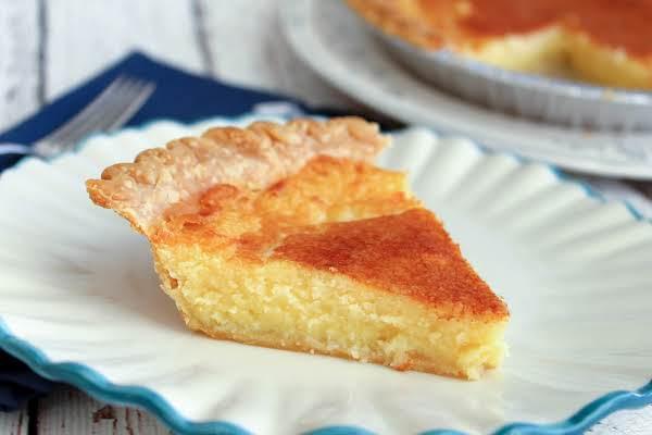 A Slice Of Mama's Buttermilk Pie.