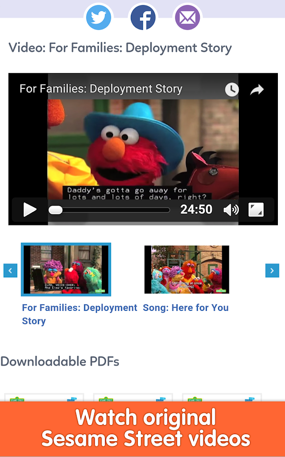 Sesame for Military Families- screenshot
