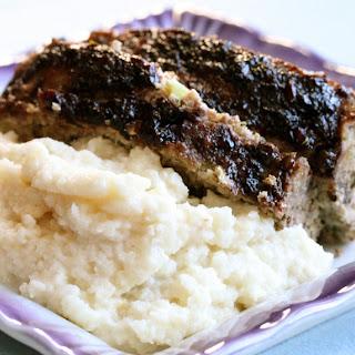 Tender Turkey Meatloaf with Parmesan Mashed Cauliflower Recipe
