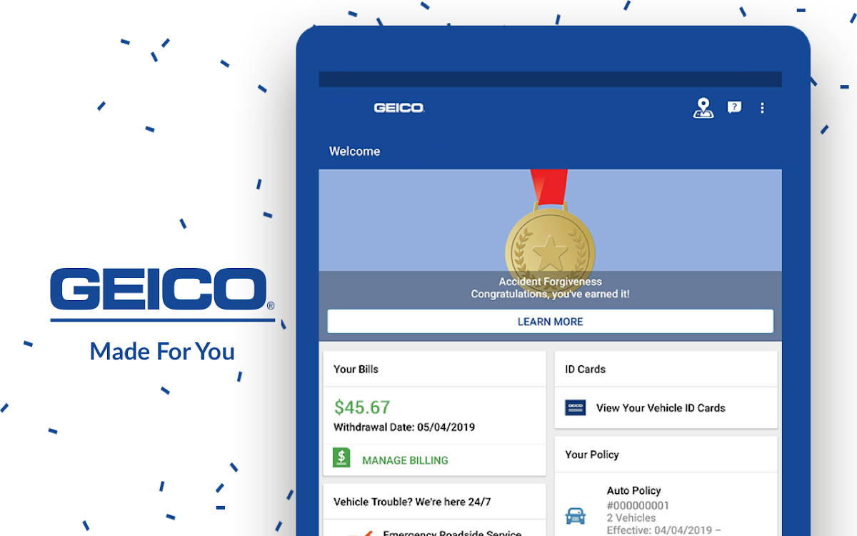 Geico Accident Forgiveness >> Geico Mobile Car Insurance Android Apps Appagg